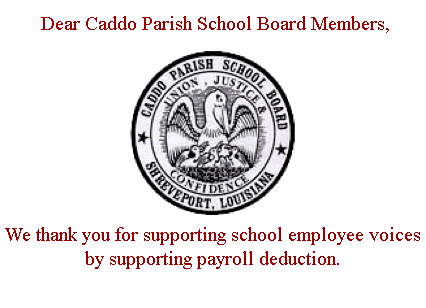 CPSB Thanks Payroll Deduct