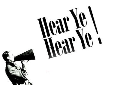 Image result for hear ye hear ye